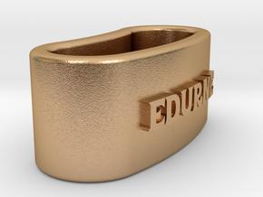 EDURNE 3D Napkin Ring with lauburu in Natural Bronze
