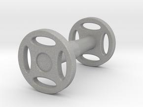 Wheeled Cufflink in Aluminum