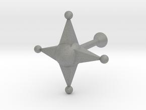 Star Cufflink in Gray PA12