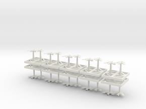 Tau Bombers in White Natural Versatile Plastic