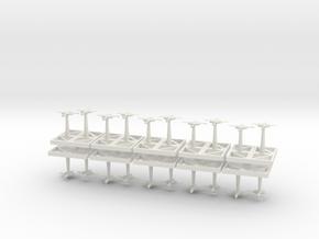 Bombers - Concept C  in White Natural Versatile Plastic