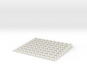 "100 Spacers 1/8"" in White Natural Versatile Plastic"