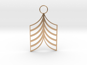 Lined Earring in Polished Bronze