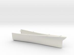 1/700 USS Kentucky BBAA-66 Full Hull - Bow in White Natural Versatile Plastic