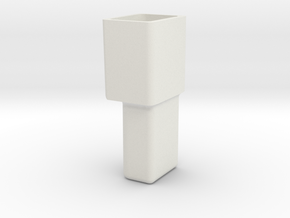GM single connector housing , male in White Natural Versatile Plastic