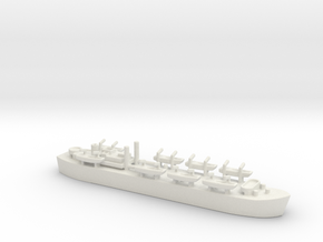 landing ship tank MK3 HMS MESSINA LST 3043 1/700 in White Natural Versatile Plastic
