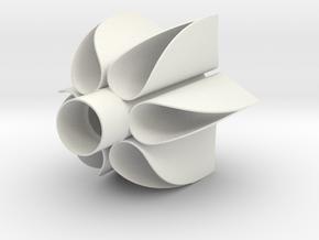 Sci-Fi Fin Unit-Starfighter Torellian style in White Natural Versatile Plastic