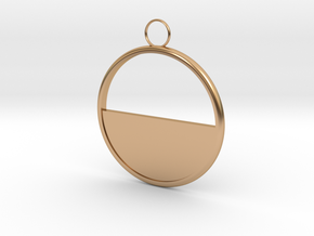 Round Earring in Polished Bronze