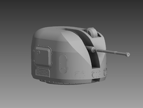 AK 100 100mm Turret 1/72 in Smooth Fine Detail Plastic