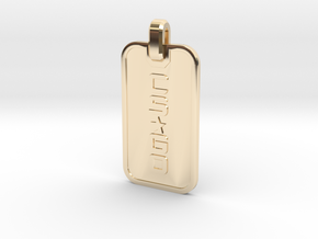 CS:GO - Dogtag Ringed in 14K Yellow Gold