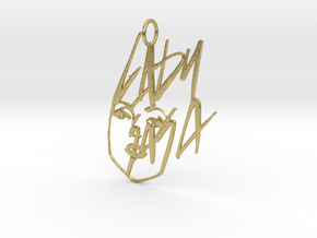 Lady Gaga Pendant - Exclusive Jewellery in Natural Brass