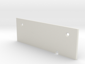 T6 End Plates for Throttle  base  in White Natural Versatile Plastic