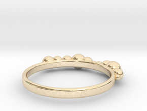 Balled Ring in 14k Gold Plated Brass