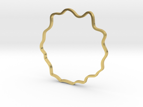 Wavy Bracelet in Polished Brass