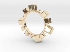 Cube Bracelet in 14k Gold Plated Brass