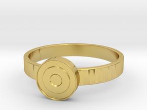 Eye Ring in Polished Brass