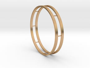 Bracelet Double in Polished Bronze
