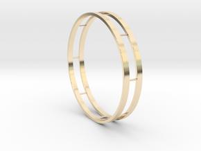 Bracelet Double in 14k Gold Plated Brass
