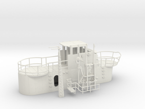 1/48 US Gato Conning Tower SET in White Natural Versatile Plastic