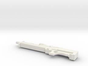 1:12 Walther WA 2000 Sniper Rifle in White Natural Versatile Plastic: 1:12