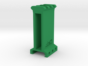 "2.5"" High 3 Slots Picatinny Riser in Green Processed Versatile Plastic"