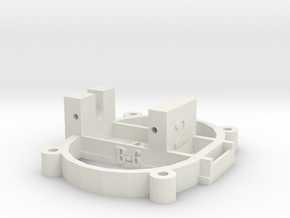 [B6] Right Servo Mount Coupling in White Natural Versatile Plastic