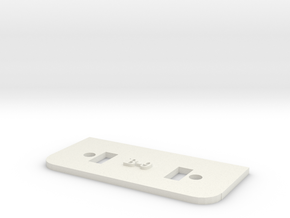 [B9] Lock Plate in White Natural Versatile Plastic