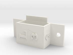 [Q6] ESC Left Bracket Mount 3 in White Natural Versatile Plastic
