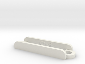 [Q8] Receiver Strap Bracket in White Natural Versatile Plastic