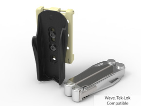 Leatherman Tool Holster, Tek-Lok Compatible in Black Natural Versatile Plastic: Small