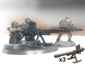 28mm SciFi Lahti automatic cannon (x3) in Smooth Fine Detail Plastic