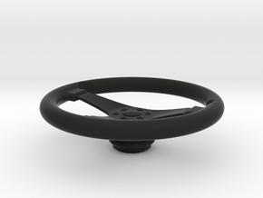 1/4 Scale Steering Wheel in Black Premium Versatile Plastic