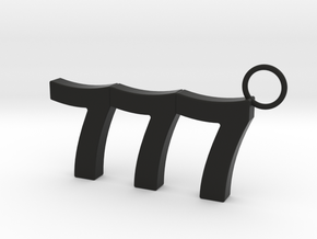 777 Keychain in Black Premium Versatile Plastic