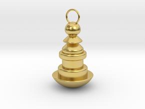 Weird shaped Keychain in Polished Brass