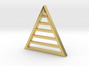Triangle Keychain in Polished Brass