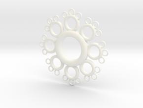 Fractal Donut in White Processed Versatile Plastic