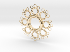 Fractal Donut in 14k Gold Plated Brass