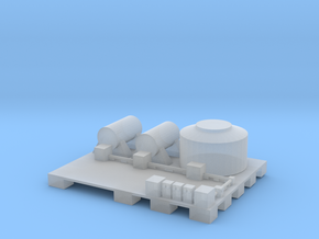 Docks fuel depot in Smooth Fine Detail Plastic: 1:300