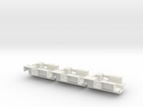 7201B • 3×M9A1 Half-track Body in White Natural Versatile Plastic