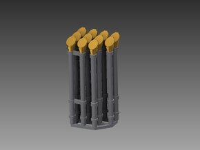 Voice pipe set 1/48 in Smooth Fine Detail Plastic