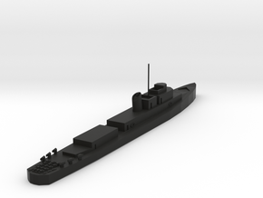 USS Evarts v2 in Black Natural Versatile Plastic: 1:300