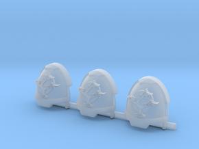 Bonsai Gravus Shoulder pads x3 R #1 in Smooth Fine Detail Plastic