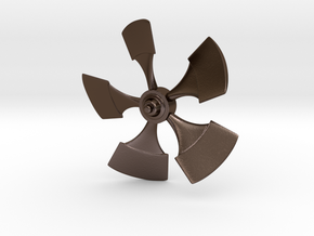 84mm Nautilus Propellor 3/16 shaft in Polished Bronze Steel