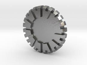 Plug Core B in Natural Silver