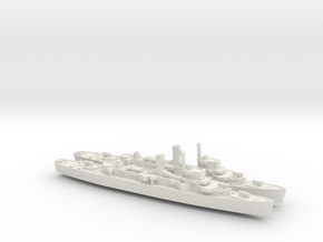 USS England x2 (Buckley Class) 1/1800 in White Natural Versatile Plastic