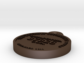 EBT 12 builder's plate in Polished Bronze Steel