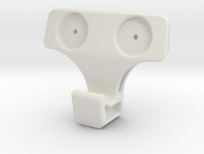 Hooktac in White Natural Versatile Plastic