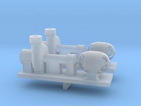 Zentrifugalpumpe ältere Bauart 2erSet - TT 1:120 in Smooth Fine Detail Plastic