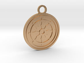 Dharma Wheel in Natural Bronze