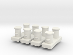 Double Bollards acc. ISO 3913 - 1:50 - 4X in White Natural Versatile Plastic